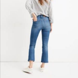 Madewell Cali Demi-Boot Jeans in Tierney Wash